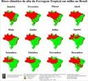 Risco climático de alta severidade da Ferrugem tropical