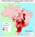 Rendimento médio da produção de milho no Brasil em 2011